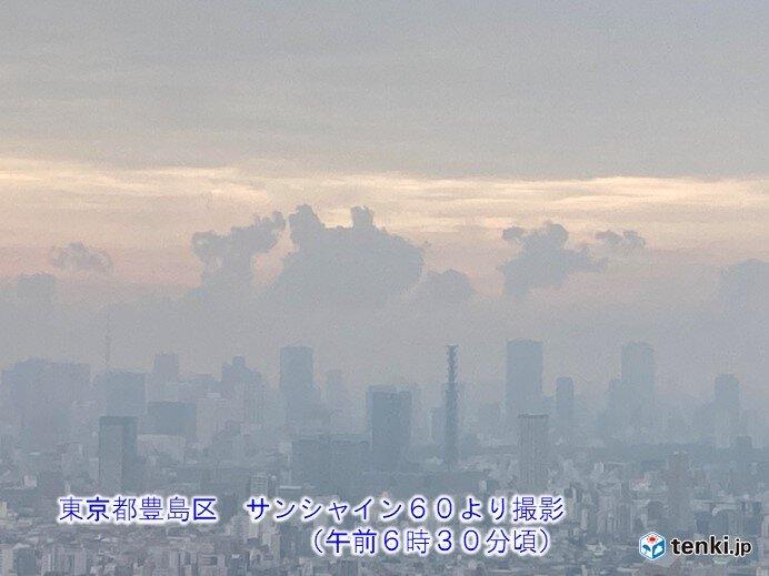 雲の多い天気 続く