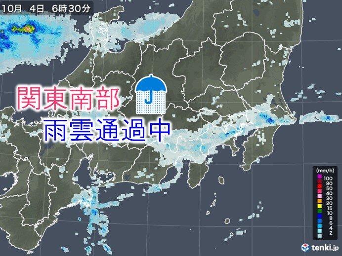 4日 関東南部に雨雲 すっきりしない天気でムシムシ