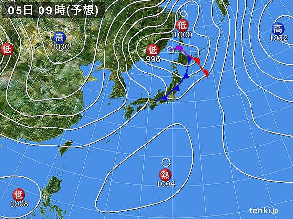 西・東日本は通勤時に傘の出番も