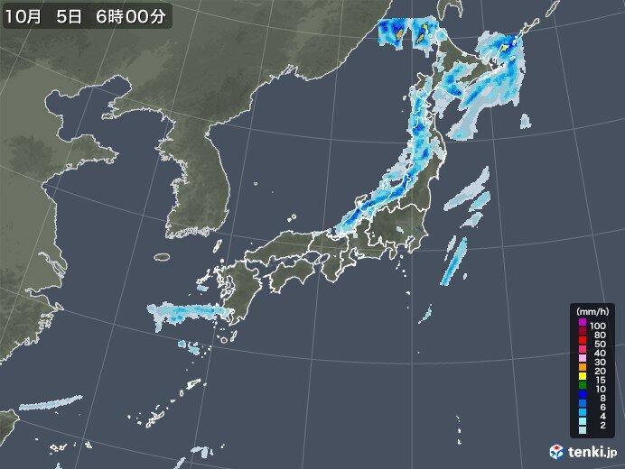 北日本は雨や風に注意