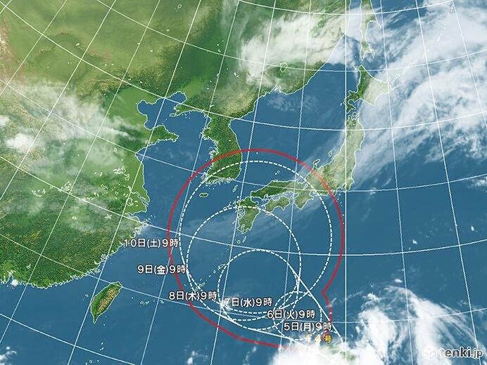 今週後半 台風14号の動向に注意