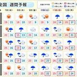 週間 台風14号は南西諸島や西日本に接近の恐れ 秋雨前線の影響で大雨も