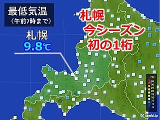 札幌 今シーズン初の1桁の気温に