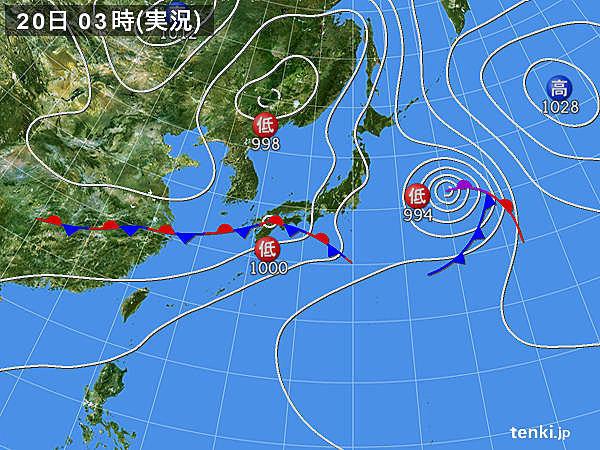 20日の天気 西・東日本 大雨のおそれ