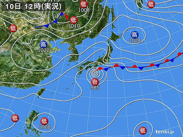 東京都心 15時までの最高気温20℃未満