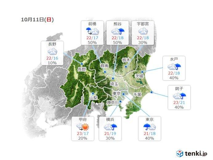 関東地方 あす11日は20℃以上に でも風が冷たい