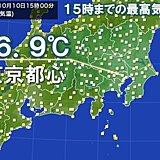 東京都心20℃に届かず 10月上旬までに3日連続20℃未満は12年ぶり