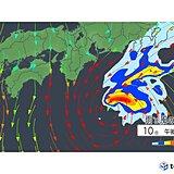 関東地方 台風14号は夕方~あす明け方にかけて最も接近 雨や風に警戒を