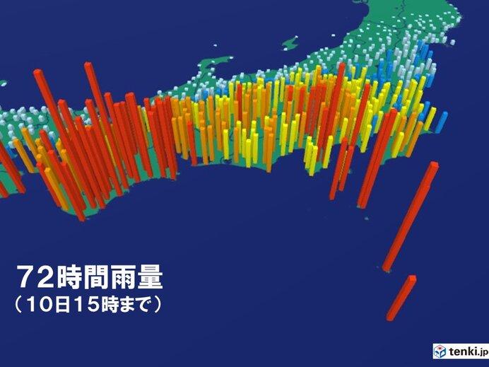 東海や関東は大雨に