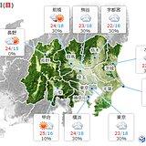 11日の関東 曇りや雨でも肌寒さは解消 伊豆諸島は昼頃まで荒れた天気