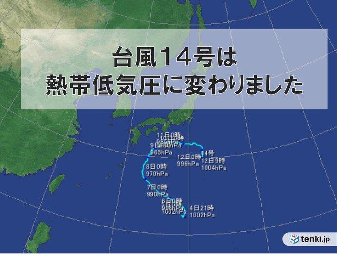 低 進路 熱帯 気圧 台風が温帯低気圧に変わると、なぜ進路予想図が消える