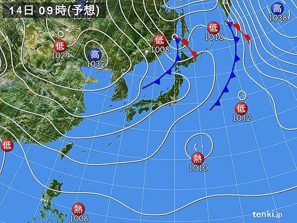 北海道に寒気