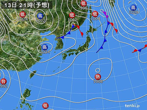 北日本は次第に天気回復 関東を中心に午後は雨雲かかる