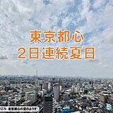 10月中旬なのに 東京都心すでに25℃超え 2日連続夏日