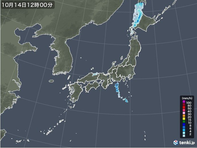 北海道は昼頃に雨 東海などもにわか雨に注意