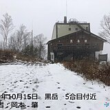一気に冬の北海道 山や峠で積雪の所も