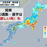 関東地方 雨はいつから? ピークの時間帯は?