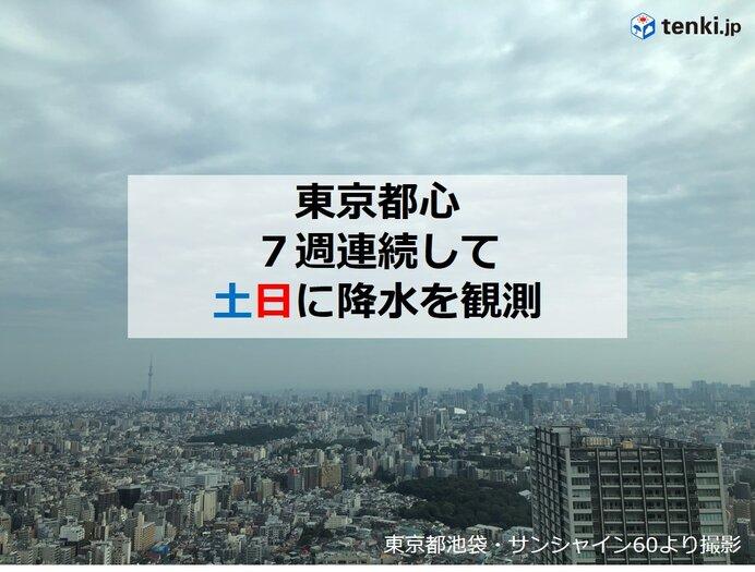 東京都心 7週連続して土日に雨 この週末は?