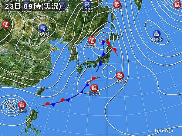 関東地方 広く雨 東京都心も1時間に3.5ミリの雨を観測