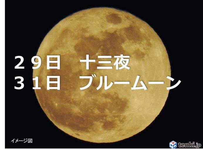 十三夜やブルームーン 「月」に注目