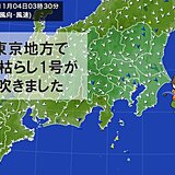 きょう(4日)未明に東京地方で「木枯らし1号」 発表は3年ぶり