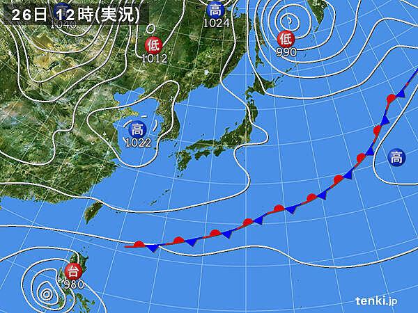 九州~関東で最小湿度30%以下 鹿児島市では18%まで下がる