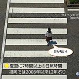 福岡 晴天の夏至 影が短い!