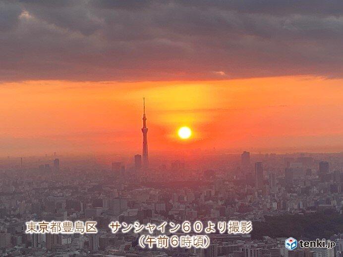 東京 5時台の日の出 きょうまで