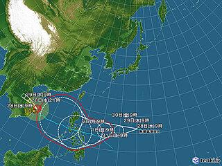 今月6個目の「台風」発生の見込み