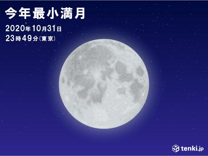 あすは十三夜 土曜日は今年最小の満月 気になる天気は?