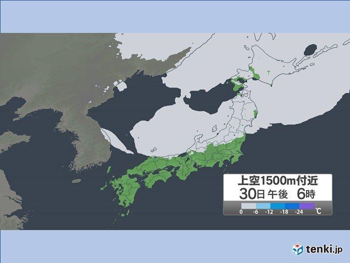 あす30日(金) 峠で「雪を降らせるほどの強い寒気」が流れ込む