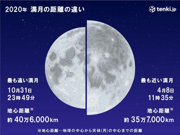 特徴1:今年最も小さく見える満月