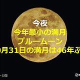 ハロウィン満月 今年最小でブルームーン 10月31日の満月は46年ぶり