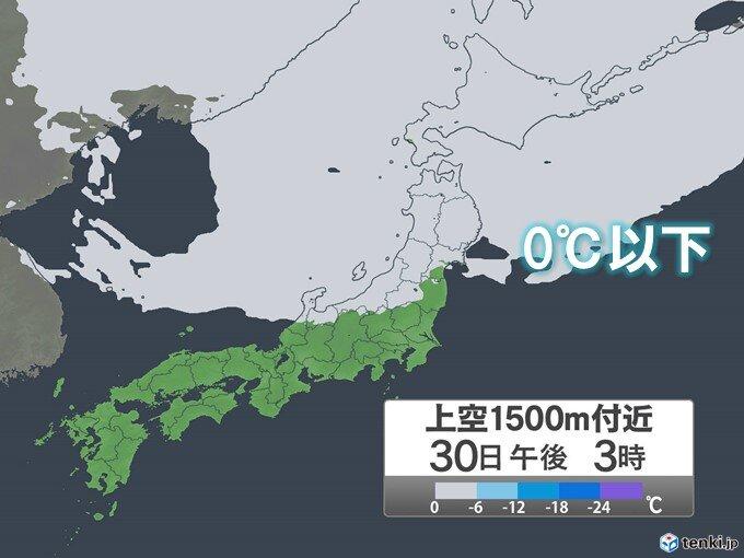 30日 北海道から北陸で日中も気温上がらず この秋一番の寒さに