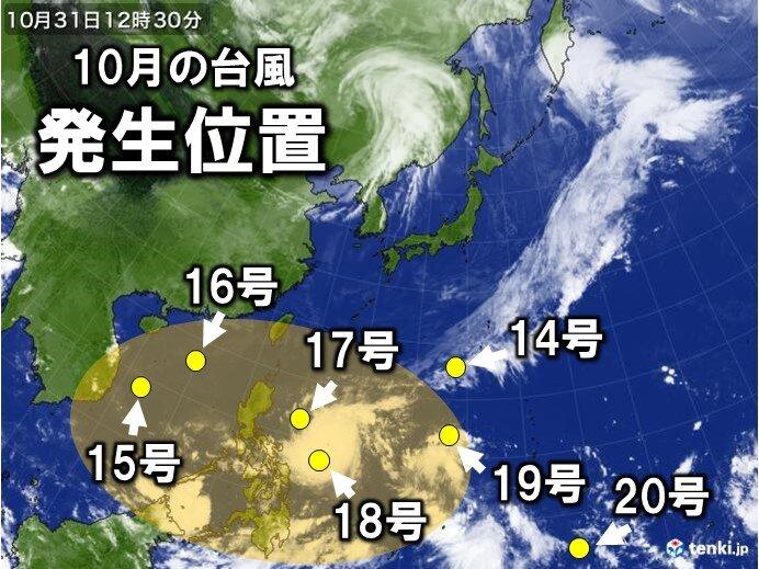 ラニーニャ現象続く 10月の台風発生に特徴が! 晩秋~冬の寒さどうなる