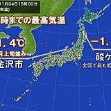 9月以降最も低い最高気温 12月並みも 酸ケ湯では0℃未満で真冬日か