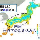 九州から関東甲信 空気カラカラ 朝は内陸で氷点下の冷え込みも