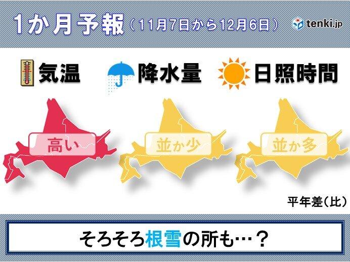 北海道の1か月予報 根雪はいつになる?