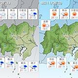関東地方 一時的に季節が逆行 あす8日(日)は汗ばむくらいの所も