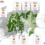 8日の関東 昼は快適 夕方から冷たい北風強まる 調節しやすい服装を