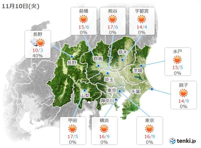 関東地方 あすはきょうより更にヒンヤリ 寒さはしばらく続く