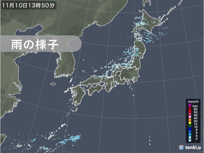 北海道の日本海側~北陸 降水続く 100ミリを超える雨