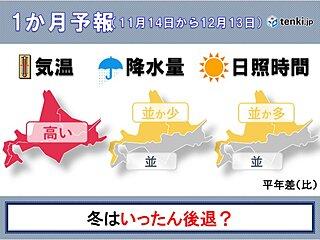 北海道の1か月 冬はいったん後退か