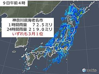 関東〜北海道 夏でもあまりない大雨に