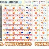 九州 今週は天気変化早い 季節はずれの夏日も