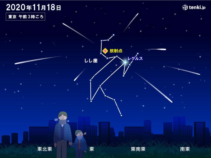 【18日未明から明け方】しし座流星群