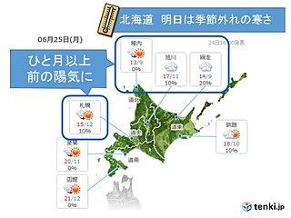 札幌 気温急降下で16年ぶり低温か