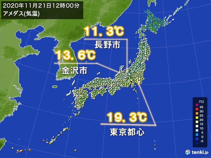 冷たい北風 金沢や長野など夏日一転、空気ヒンヤリ