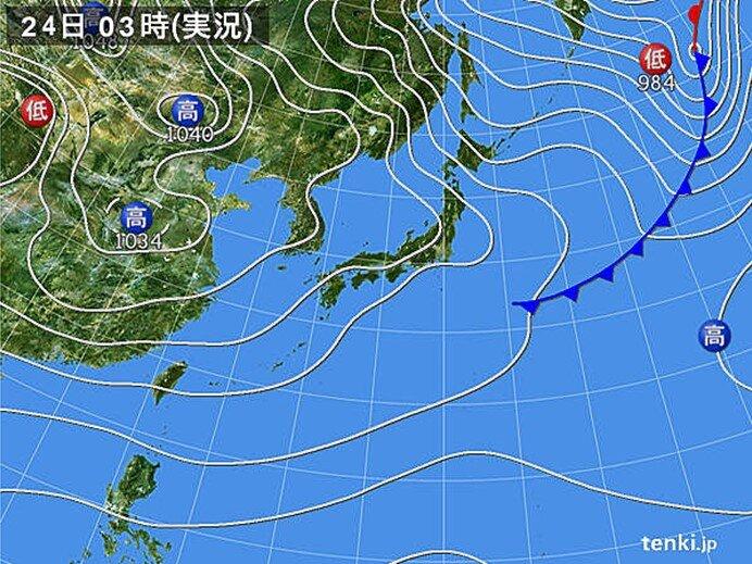 日本海側も天気回復へ