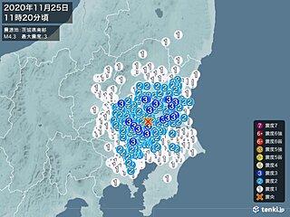 茨城県、栃木県、埼玉県などで震度3の地震 津波の心配なし